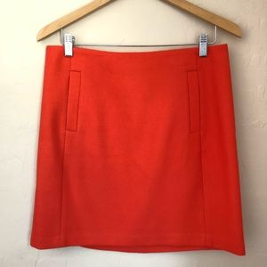 Banana Republic Coral Orange Pencil Skirt 8